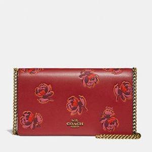 Coach Red Apple Floral Print Callie Crossbody Bag